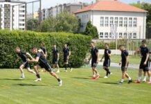 Trening fudbalera Partizana