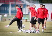 Trening fudbalske reprezentacije Srbije